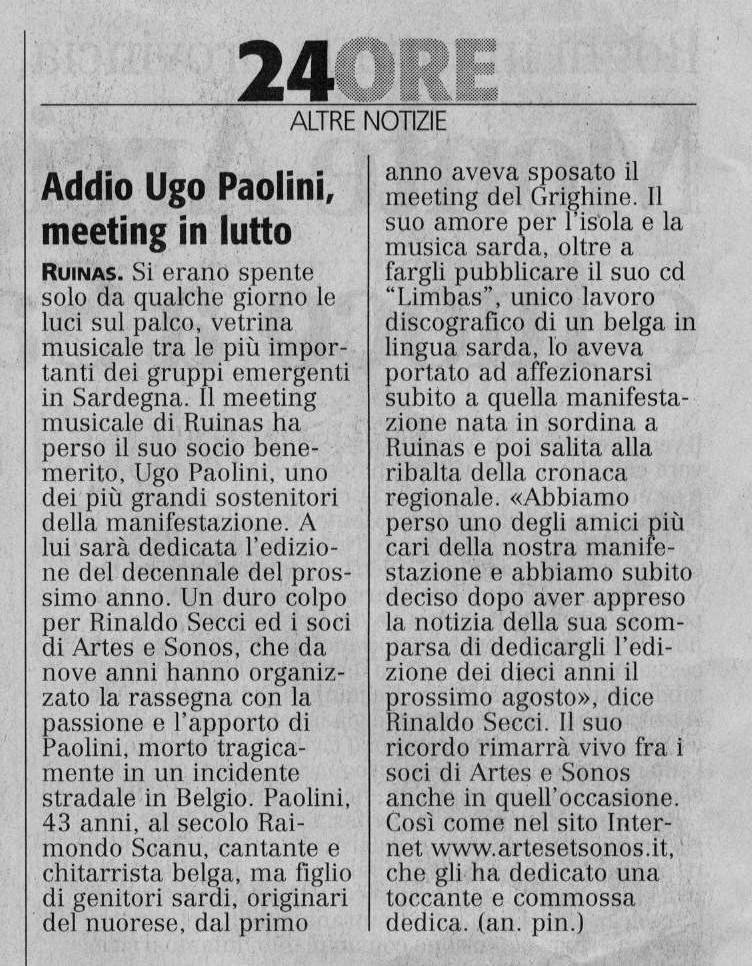 articolo raimondo scanu2005